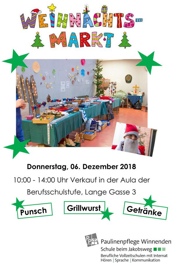 Weihnachtsmarkt Winnenden.Berufsschulstufen Weihnachtsmarkt Am Nikolaustag 2018 News