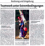 Girls' day im JHV: Teamwork unter Extrembedingungen