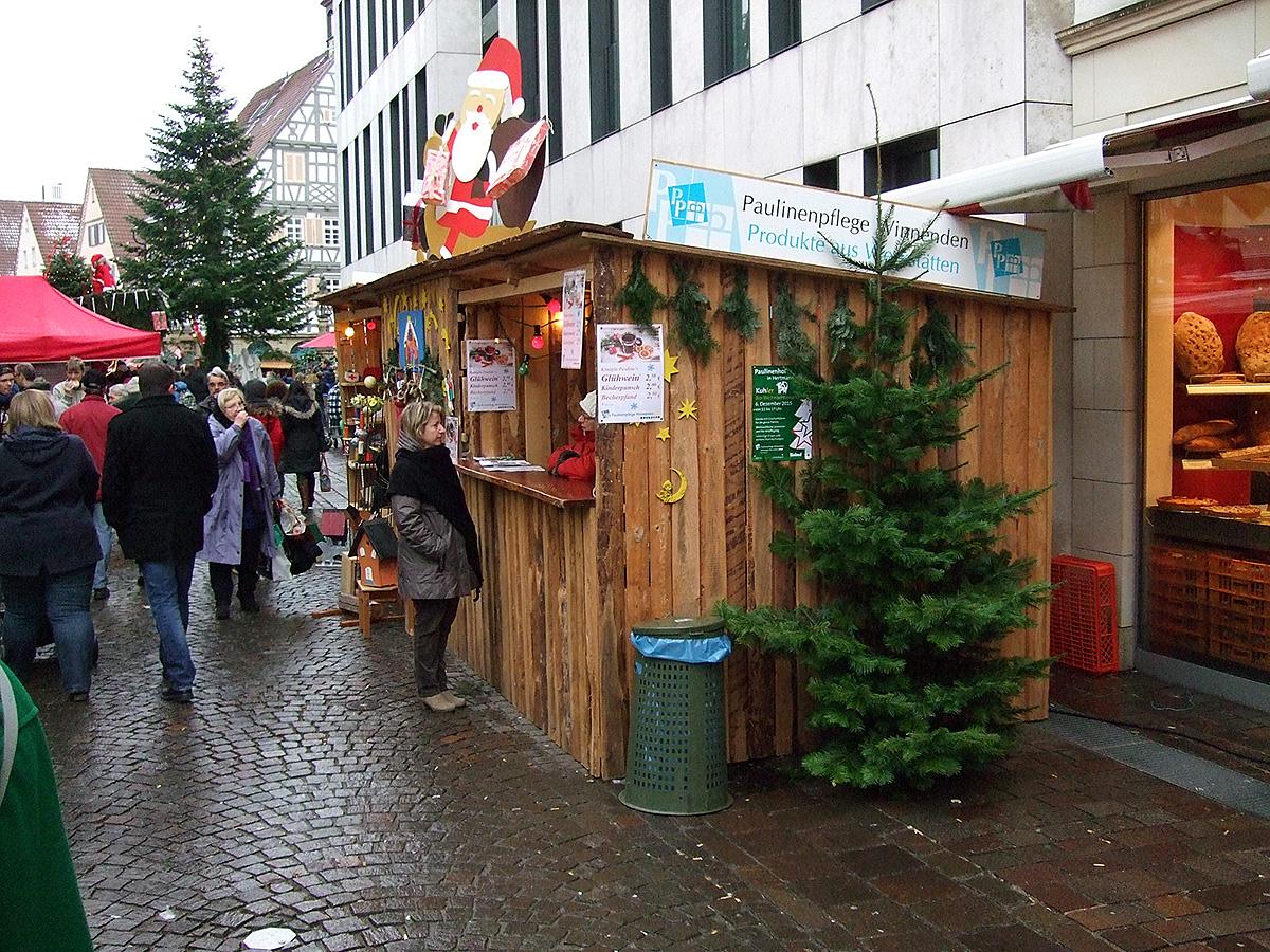 Weihnachtsmarkt Winnenden.Wir Sind Dabei Weihnachtsmarkt Winnenden Mit Der Paulinenpflege